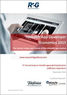 research2guidance - mHealth App Developer Economics 2015 App Development, Economics, Health And Wellness, Marketing, Digital, Health Fitness, Finance
