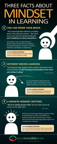 3 Facts about Mindset in Learning Infographic - e-Learning Infographics