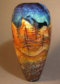 Rick Satava - Satava Art Glass is located in the beautiful college town of Chico, California Glass Vessel, Glass Ceramic, Mosaic Glass, Blown Glass Art, Art Of Glass, Bead Art, Pottery Art, Glass Beads, Chico California