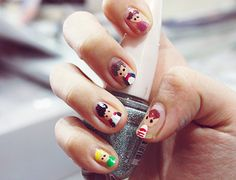 One Direction nail art. I'm not a huge fan of one direction but what if you did this for the Avengers!