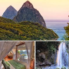 It's fun Friday and as promised, it's time for a virtual vacation. The lovely and amazing Caribbean island of St. Lucia is a Honeymoon Getaways, Lake Tahoe Weddings, Wedding Inspiration, Wedding Ideas, Honeymoons, Good Friday, Travel Bugs, Adventure Travel, Fairytale