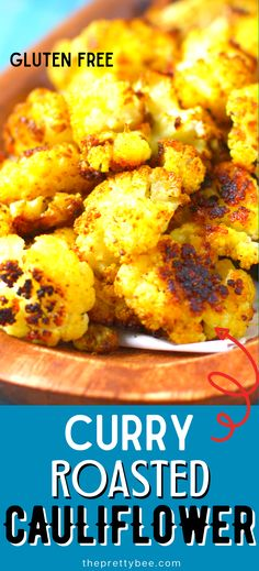 1 reviews · 50 minutes · Vegan Gluten free Paleo · Serves 3 · Cauliflower is so good when roasted with curry and garlic! This is a flavorful side that your whole family will love. #ovenroasted #garlic #vegan