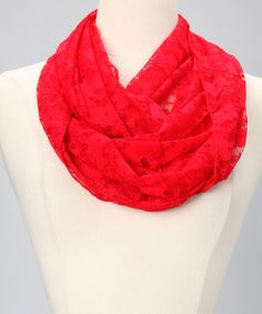 Another great find on #zulily! Star Vixen Red Lace Infinity Scarf by Star Vixen #zulilyfinds