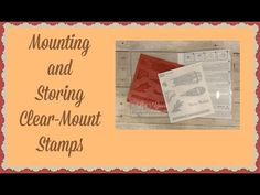 Quick Crafting Tip - Mounting & Storing Clear-Mount Stamps Stampin' Up!, card, paper craft , scrapbook, craft, rubber, stamps, hobby, PDF project tutorials, Studio Stamps in the Mail, www.lisasstampstudio.com
