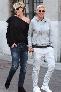 Ellen DeGeneres and Portia de Rossi Put on a Loving Display While Shopping in LA