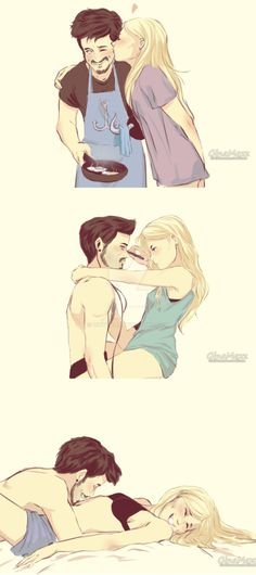 Domestic CS by ginytah Couple Drawings, Love Drawings, Couples Comics, Couple Illustration, Couple Cartoon, Couple Art, Disney Fan Art, Cute Anime Couples, Cute Relationships