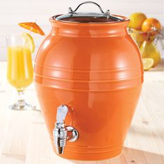 I am such a sucker for anything orange - now its a beverage dispenser