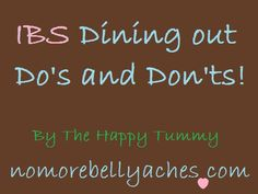 how to eat out with IBS!