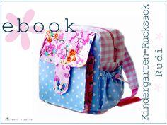 Nähanleitungen Taschen - Ebook Kindergartenrucksack Rudi - ein Designerstück von Lillesol-und-Pelle bei DaWanda