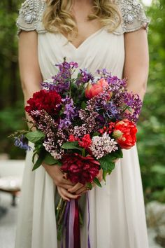 woodland jewel wedding bouquet liliacs