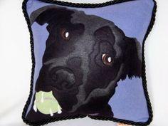 14 Inch Custom Portrait Pillow by mybonnie on Etsy, $85.00