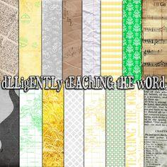 LDS Mormon Missionary Themed Free Digital Scrapbooking Kit!