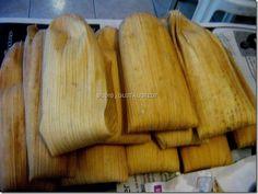 Tamales de Puerco en Adobo (con hoja de maiz)
