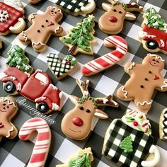 Cookie Artist Trend - Rachael Ray In Season Christmas Cookie Icing, Cute Christmas Cookies, Christmas Sweets, Holiday Cookies, Christmas Baking, Sugar Cookie Royal Icing, Iced Sugar Cookies, Royal Icing Decorated Cookies, Candy Cane Cookies