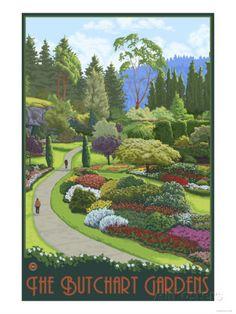 Butchart Gardens - Brentwood Bay, British Columbia, Canada Prints at AllPosters.com