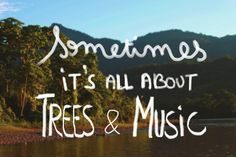 Sometimes it's all about trees and music. #TreezMovement #Trees #music #inspiring #quote #nature Find more inspiration on http://treez.org