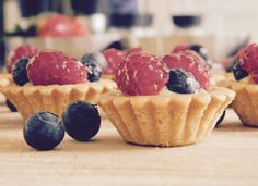 Sunday cooking! White chocolate & fresh fruit tartelette ... Loving these fresh berries from our local farmers market