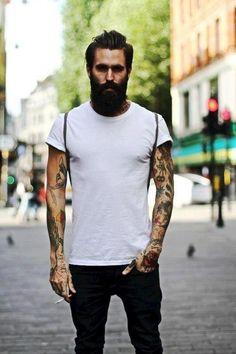 ned kelly, represent // ink // tattooed // sleeves // beard //