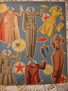 VINTAGE-GIRL-PILOTS-OF-THE-FERRY-COMMAND-PAPER-DOLLS-1943-ORIGINAL