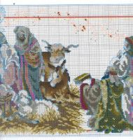 Gallery.ru / Фото #51 - Las Labores de Ana 115 - Ka Holy Family, Cross Stitch Patterns, Nativity, Projects To Try, Diagram, Crafty, Embroidery, Painting, Art