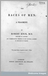 Capa do livro de Robert Knox - The Races of Man