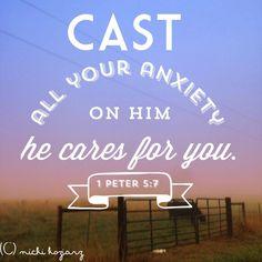 1 Peter 5: 7