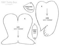 free memory bear pattern to download