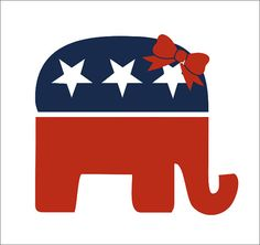 Republican Elephant Vinyl Decal Car Window by CustomVinylbyBridge, $9.00