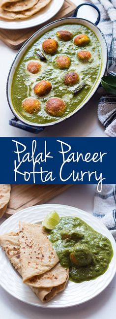 The BEST recipe for healthy paneer koftas simmered in a palak or spinach curry. This tastes just like palak paneer! Plus bonus tip to get restaurant style green colour without food colouring.