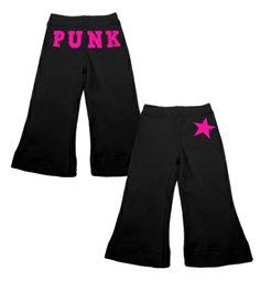 Punk Star Flare Pants (black/hot pink)