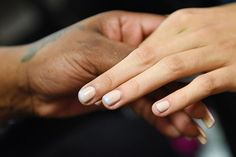 NYFW Beauty Trends Spring 2016 - Gradient nude and gray nails at Suno | allure.com