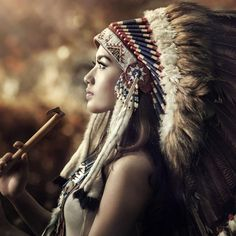 Native American Girl iPad Air wallpaper