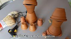 shéma de construction des bonhommes en pots de fleurs