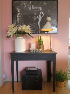 rosa väggfärg
