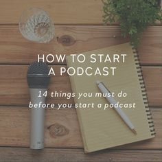 Learn the 14 steps you must do before you start a podcast + grab your free podcast quick starter pack containing everything you need to create and launch your podcast.