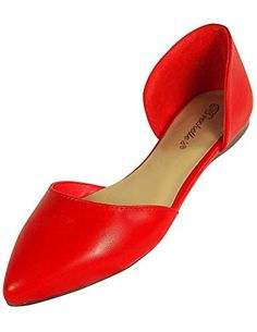 Breckelles Women's Faux Suede D'Orsay Pointed Toe Flats
