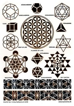 Geometric Art Drawing Sacred Geometry Tattoo Ideas 59 Best IdeasYou can find Sacred geometry tattoo and more on our website. Geometric Patterns, Sacred Geometry Patterns, Sacred Geometry Tattoo, Geometric Nature, Geometric Mandala Tattoo, Desenho Tattoo, 3d Prints, Nature Tattoos, Art Drawings