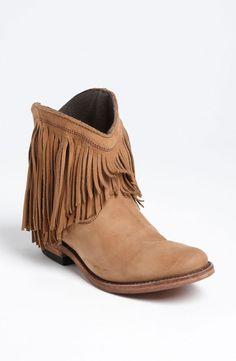 Liberty Black short fringe boot