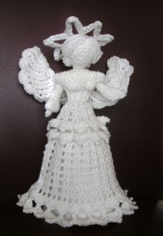 Crochet Angel I am making for child cancer charity appeal.