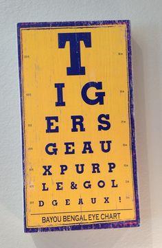 LSU Tigers Eye Chart $38