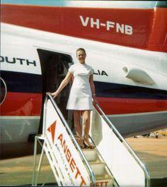 Ansett Airlines of Australia. My Trainer Pammy Photo Jenny Burrows Australian Airlines, International Airlines, Cabin Crew, Air Travel, Flight Attendant, Australia Travel, Dory, Melbourne Tullamarine, Transportation