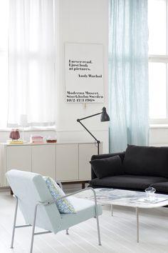Via Bemz | Moderna Museet Warhol Poster | Black White Blue