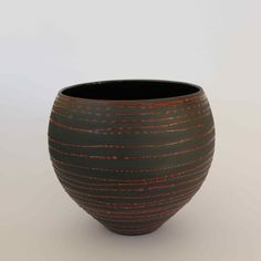 Colleen Lehmkuhl - Red lines on black clay