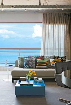 Apartamento em Fortaleza com vista para o céu e para o mar.