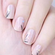 Flower Nail Designs, Acrylic Nail Designs, Nail Art Designs, Nail Polish Designs, Nails Design, Minimalist Nails, Cute Nails, Pretty Nails, Gel Nails