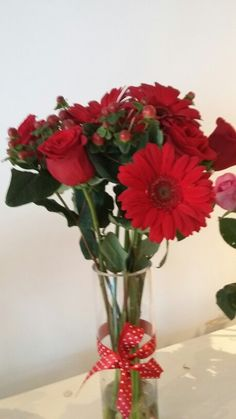 Rosas hiperico gerveras