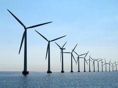 Groot-klein: je ziet dat de windmolens steeds kleiner worden naarmate ze steeds verder weg staan Desktop Background Pictures, Urban Farming, Leiden, Rembrandt, Wind Turbine, Holland, Perspective, Shades, Water