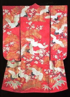 Woman's formal kimono, 1930's, from the Montgomery Collection of Japanese Folk Art via RICHARD  NATHANSON