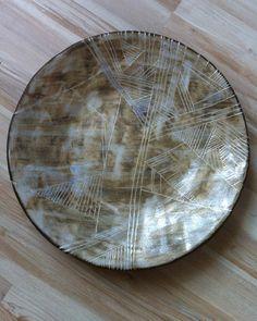ceramic plate geometric by nomen omen studio