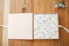 gorgeous newborn box and album design